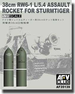 38cm RW6-1 L/5.4 Assault Rocket for Sturmtiger 1:35