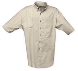 Badger Creek Short Sleeve Woven Shooting Shirt Sand, Small