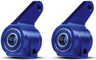 Aluminum Steering Blocks Blue Rustler/Stampede