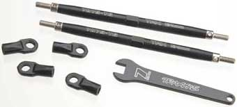 124mm Lightweight Toe Links Maxx (2) Rear Black