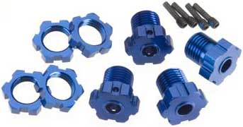 Anodized 17mm Wheel Hubs/Hexes Kit (4)