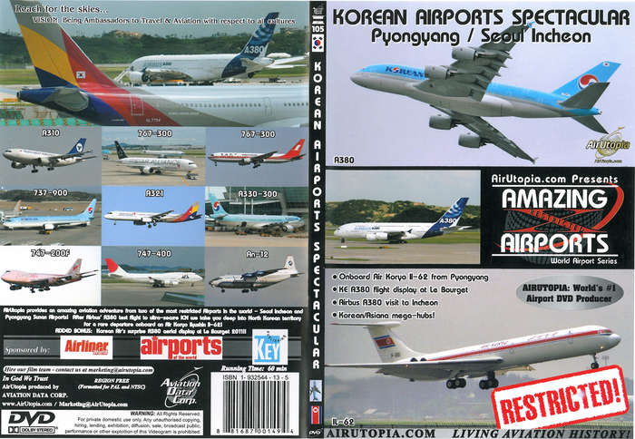 Amazing Airports Dvd Korean Airports Spectacular 60 Minutes