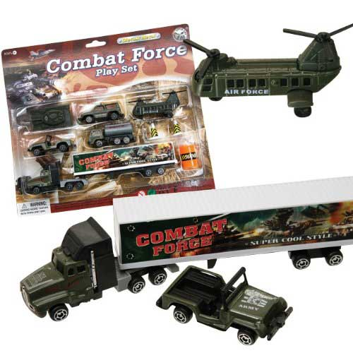 Combat Force Military Vehicle 9 Piece Play Set