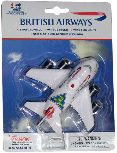 British Airways Pullback W/LIGHT & Sound