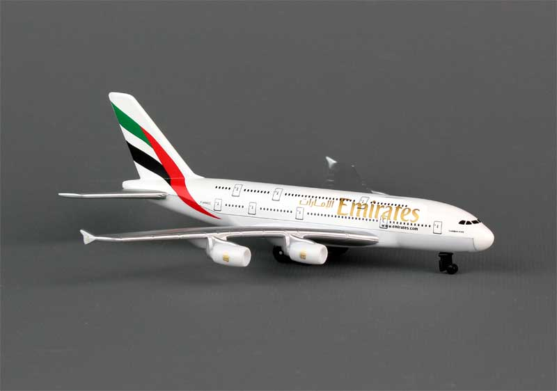 Emirates A380 Diecast Metal Toy Plane