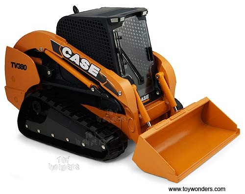 Case TV380 Compact Track Loader (1/16 scale diecast model, Yellow)