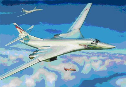 "1/144 Tupolev TU-160 Russian Supersonic Bomber ""Blackjack"" - New Tooling 1:144"