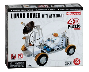 Lunar Rover with Astrounaut 4D Puzzle 55 Pieces