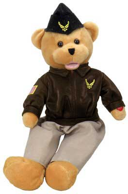 "Air Force Military Hero Bear ""The U.S. Air Force"" aka ""Wild Blue Yonder"""
