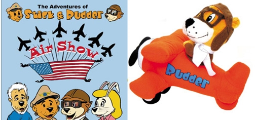 Rudder Plush and Air Show Book Combo