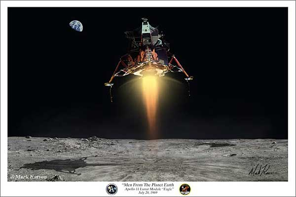 "Apollo / Lunar Module ""Men From The Planet Earth"" (Fine Art Print)"