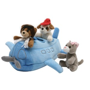 "10"" Airplane with 3 Puppet Pals"
