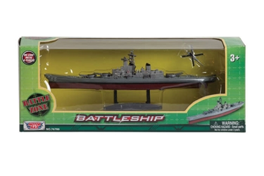 "Battleship, 9"" long, with helicopter"