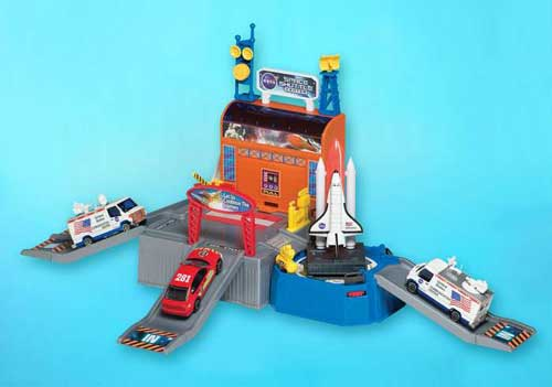 Action City Space Mission Playset W/2 Cars & Shuttle