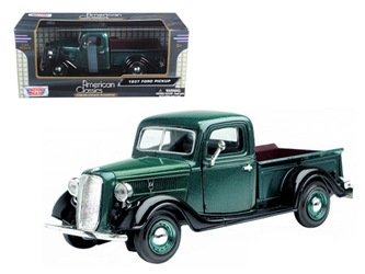 1937 Ford Pickup Truck Green (1:24)