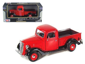 1937 Ford Pickup Truck Red (1:24)