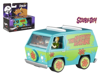 Scooby Doo Mystery Machine With Mini Figures Elite 1/50 Diecast Model by Hotwheels