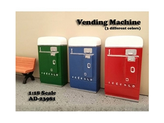 1 piece Vending Machine Accessory Diorama Blue For 1:18