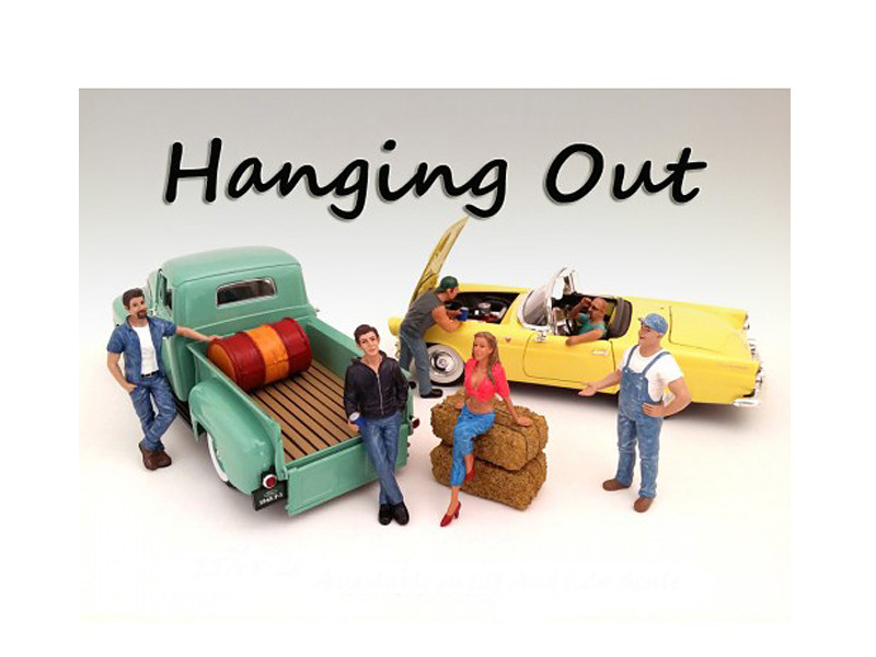 Hanging Out 6 Piece Figure Set For 1:18 Scale Models by American Diorama