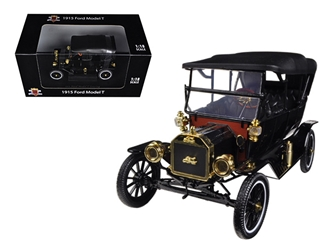 1915 Ford Model T Touring Soft Top Black (1:18)