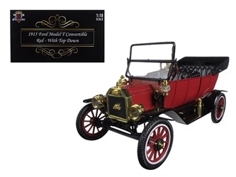 1915 Ford Model T Roadster Convertible Red (1:18)