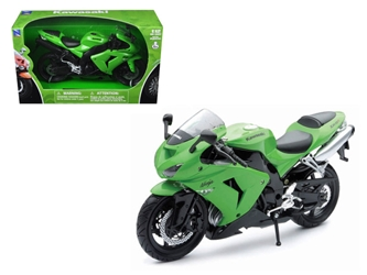 2006 Kawasaki ZX-10R Ninja Green Motorcycle (1:12) Model
