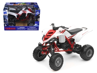 2005 Yamaha 660R Raptor WhiteRed ATV Motorcycle (1:12)