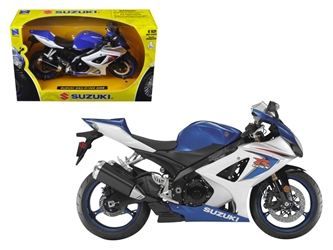 2008 Suzuki GSX-R1000 Blue Bike Motorcycle (1:12)