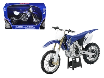 2009 Yamaha YZ450F Dirt Bike Blue Motorcycle (1:12) Model