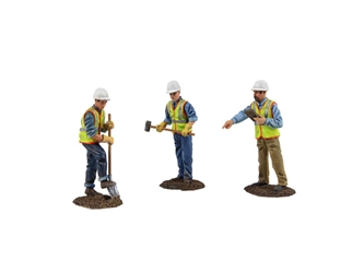 Diecast Metal Construction Figures 3pc Set #2 (1:150) by First Gear