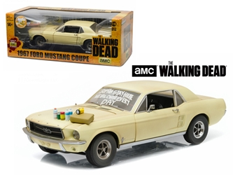 "1967 Ford Mustang Coupe ""The Walking Dead"" 2010-2015 TV Series ""Sophia Message Car"" with Hood Accessories (1:18)"