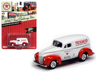 "1940 Ford Delivery Van ""Texaco""1/64 Diecast Model Car by Johnny Lightning"