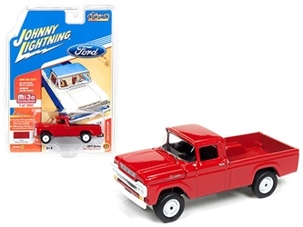 "1959 Ford F-250 Pickup Truck Red ""Classic Gold"" 1/64 Diecast Model Car by Johnny Lightning"
