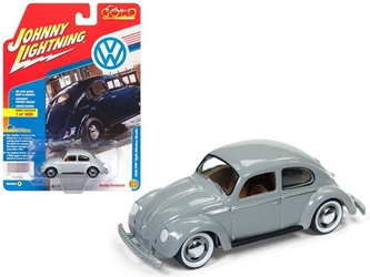 "1950 Volkswagen Split Window Beetle Pearl Gray Limited Edition to 1800pc Worldwide Hobby Exclusive ""Classic Gold"" 1/64 Diecast Model Car by Johnny Lightning"