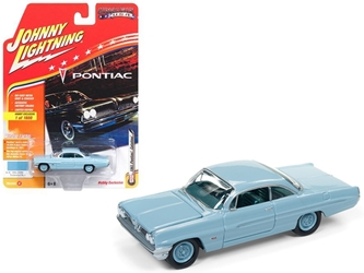 "1961 Pontiac Catalina Tradewind Blue Limited Edition to 1800pc Worldwide Hobby Exclusive ""Muscle Cars USA"" 1/64 Diecast Model Car by Johnny Lightning"