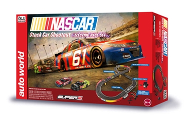 NASCAR Stock Car Shoot-Out Slot Car Race Set (1:64 Scale)