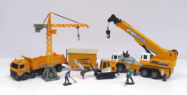 Crane and Construction Gift Set Made of diecast (1:60)