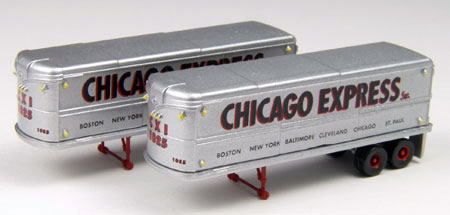 Chicago Express - 32%27 Aerovan Trailers Set of  (1:160)