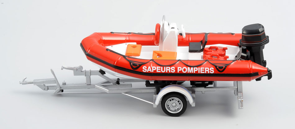 Firefighter and Rescue ZODIAK inflatable boat (1:43)