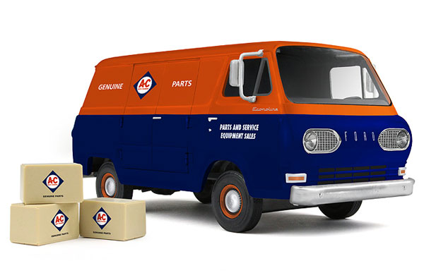 Allis-Chalmers - 1960s Ford Econoline Van Made of (1:25)