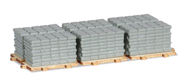Concrete Side Walk Squares on a Pallet (1:87)