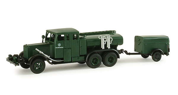 Henschel Tanker Truck with Trailer - (1:87)