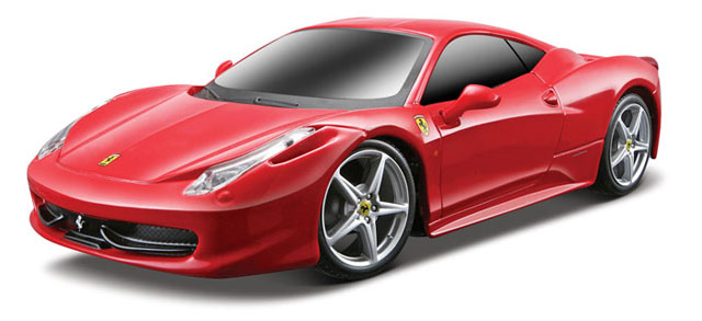 Ferrari 458 Italia in Red - Remote Control - 27 MHz (1:24)