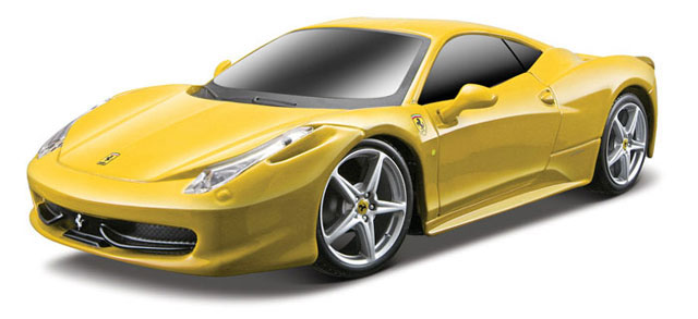 Ferrari 458 Italia in Yellow - Remote Controlled Vehicle 49 MHz (1:24)