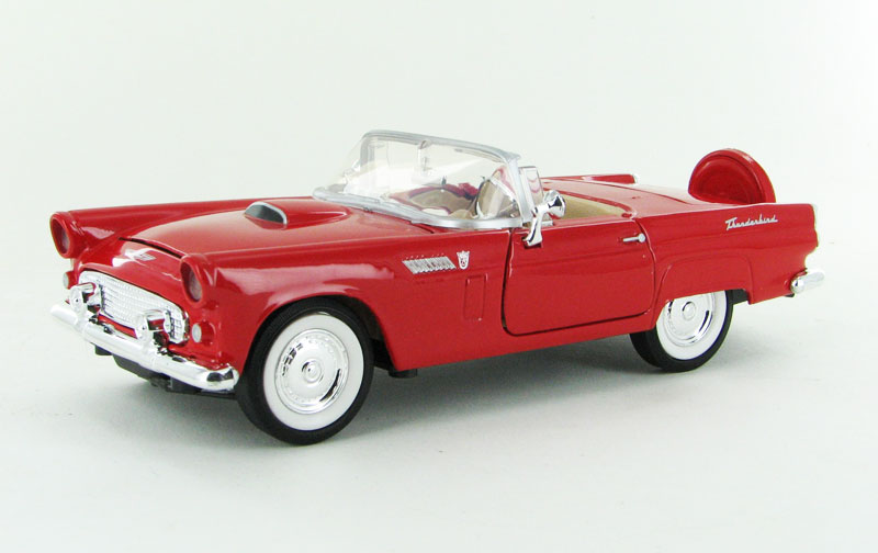 1956 Ford Thunderbird Convertible in Red (1:24)
