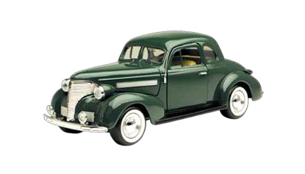 1939 Chevrolet Coupe in Arabian Green (1:24)