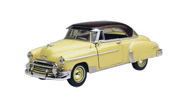 1950 Chevrolet Bel Air in Air Yellow (1:24)