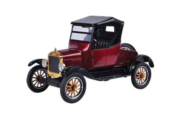 1925 Ford Model T Runabout in Burgundy - Platinum Collection (1:24)