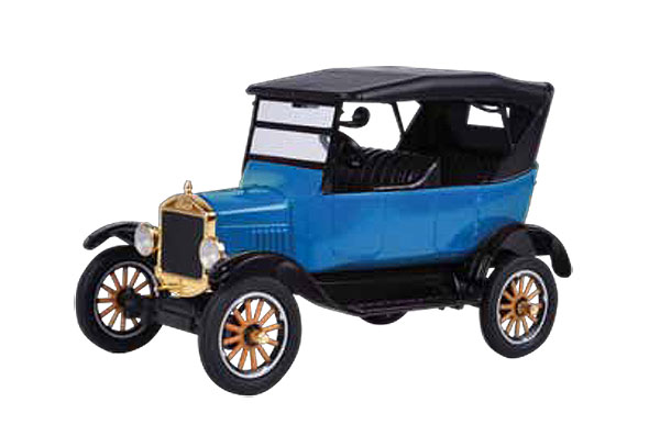 1925 Ford Model T Touring in Blue - Platinum Collection (1:24)