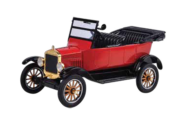 1925 Ford Model T Touring Convertible in Red - Platinum Collection (1:24)